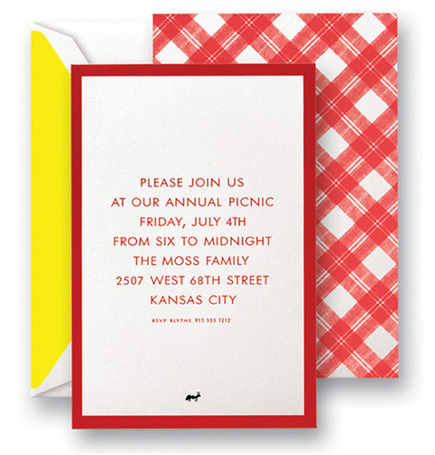 4th of July Invitations by Kate Spade