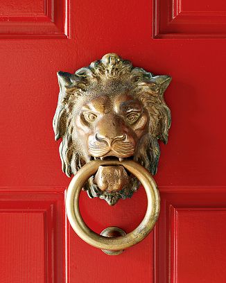 Williams Sonoma Lion Door Knocker