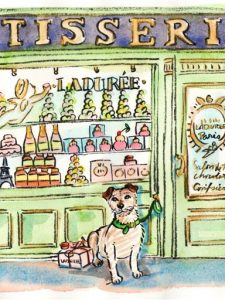 My dog dines at Ladurée…