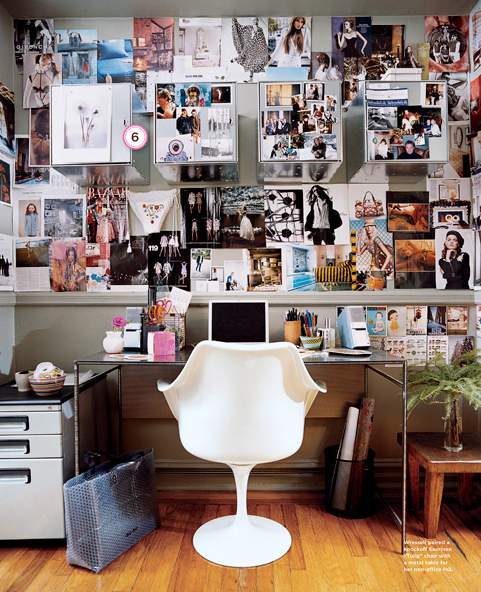 desk_office work space_inspiration clutter white tulip chair_melanie acevedo