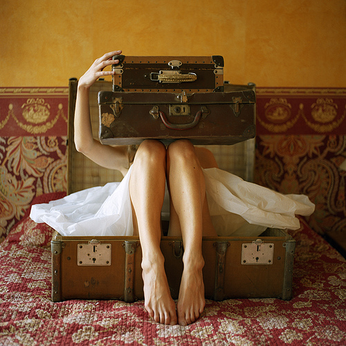 vintage suitcases magazine photo