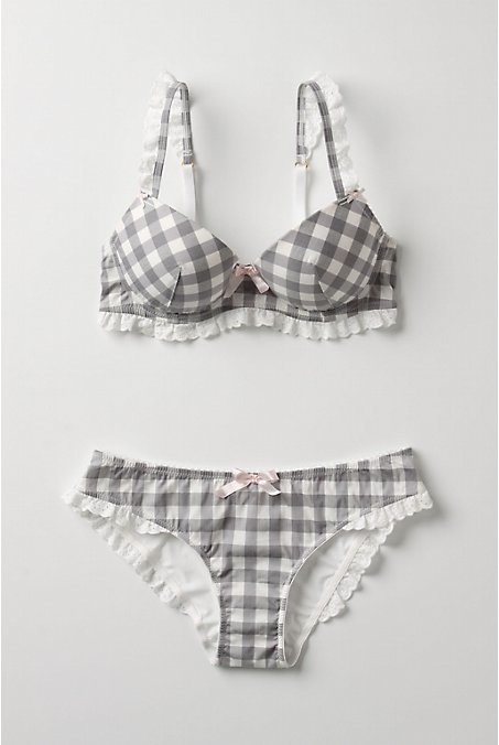 Anthropologie-Grey-gingham-plaid-lingerie
