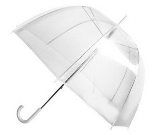 Totes Clear Bubble Umbrella - Silver Trim : Target