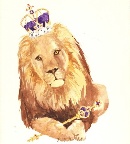 english-eccentric-lion-illustration
