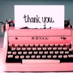 A heartfelt thank you…