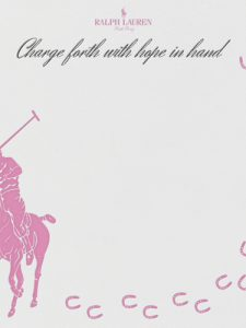 My Pink Pony Hope Card