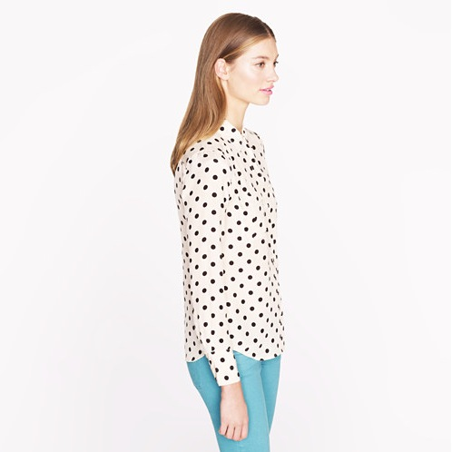 Collection Black And White Polka Dot Blouse Pictures - Fashion ...