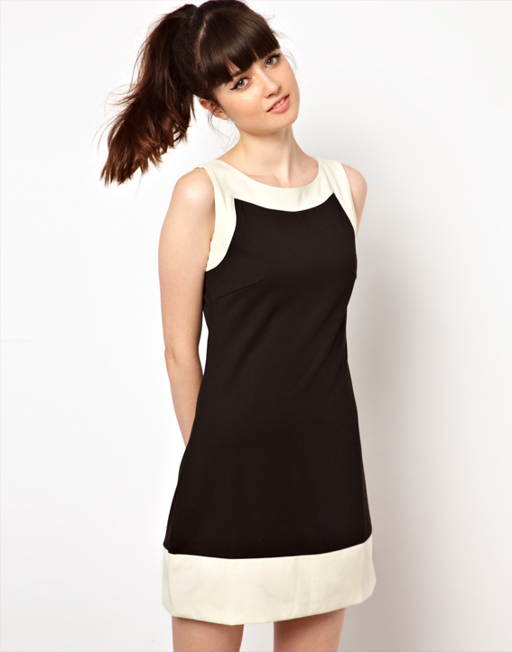black-white-shift-dress-mod-ASOS