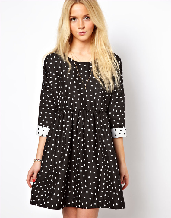 polka-dot-black-white-dress-ASOS-1