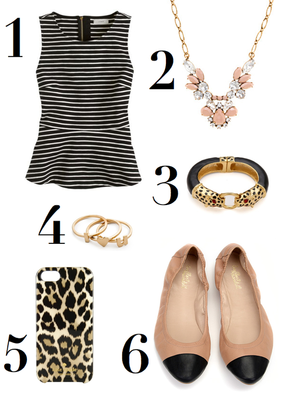 katie-armour-thursday-wish-list-the-neo-traditionalist-peplum-stripes-captoe-flats-leopard-iphone-case