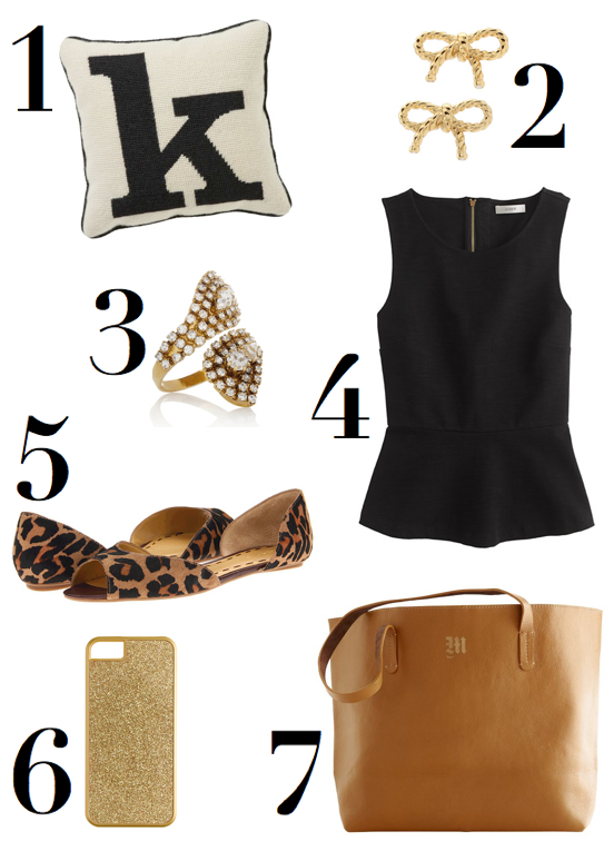 monday-wish-list-katie-armour-peplum-monogram-leopard-bow-glitter