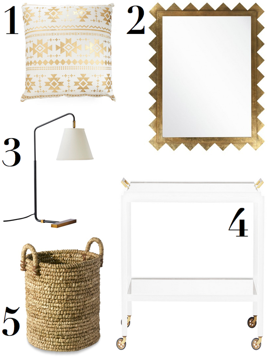 katie-armour-the-neo-trad-wish-list-gold-white-bar-cart-mirror-pillow