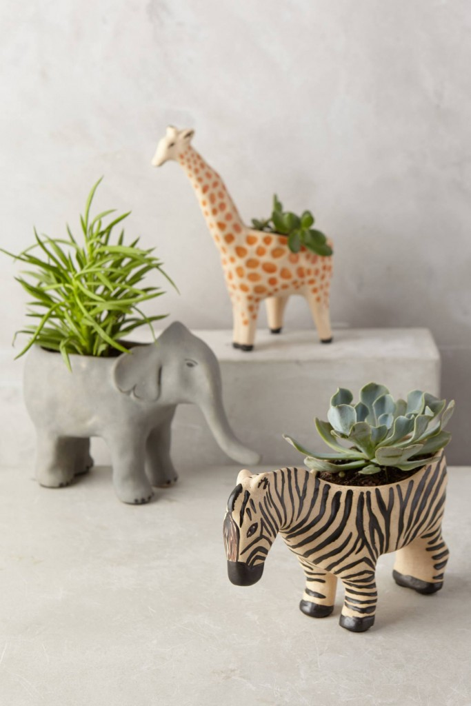 animal-planter-giraffe-elephant-zebra-garden