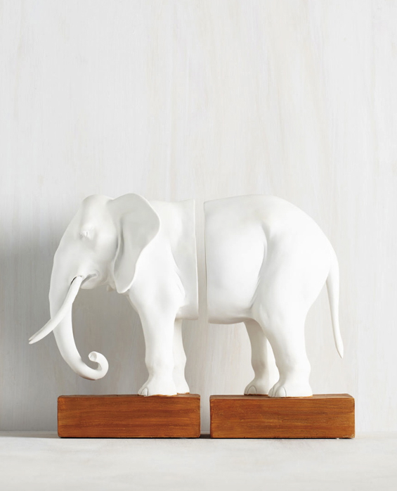 elephant-bookends