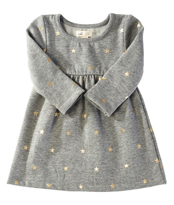 girls-star-print-long-sleeve-dress