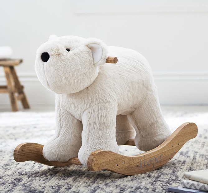 polar-bear-fur-plush-rocker-baby-nursery