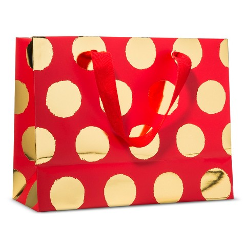 sugar-paper-red-gold-dot-holiday-gift-bag