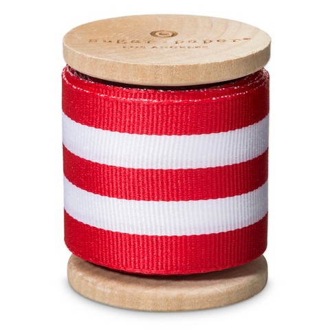 sugar-paper-red-white-stripe-grosgrain-ribbon-holiday-gift-wrapping