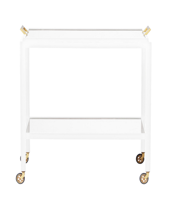 white-gold-modern-minimal-sleek-bar-cart-parisian-serena-lily