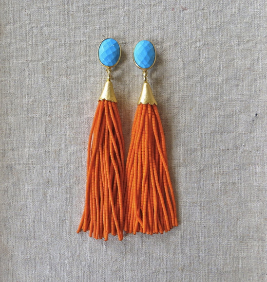 beaded-tassel-earrings-druzy-gemstone-drop-st-raine-etsy-1