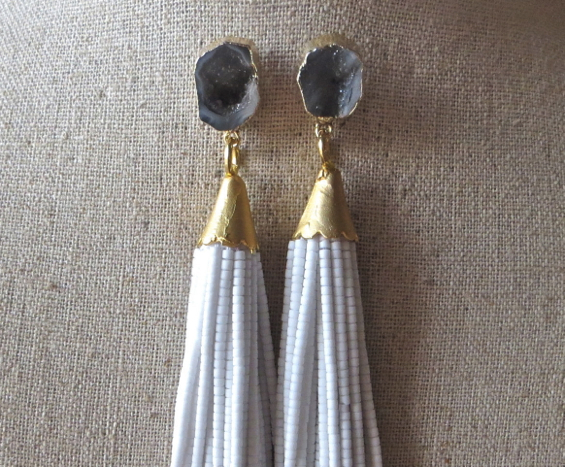 beaded-tassel-earrings-druzy-gemstone-drop-st-raine-etsy-12