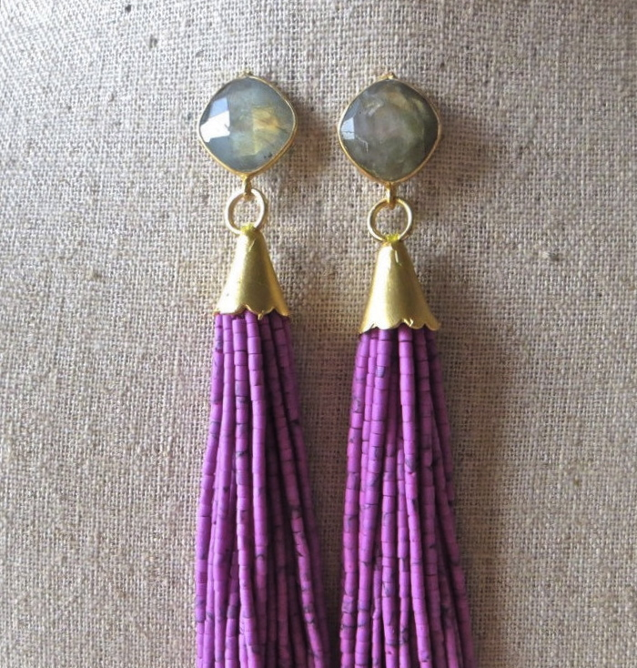 beaded-tassel-earrings-druzy-gemstone-drop-st-raine-etsy-2
