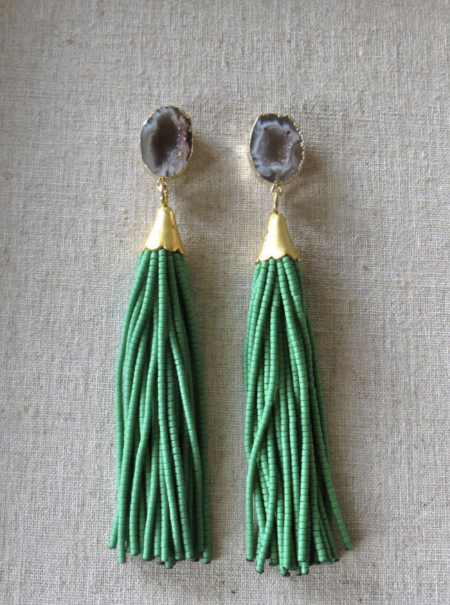 beaded-tassel-earrings-druzy-gemstone-drop-st-raine-etsy-6