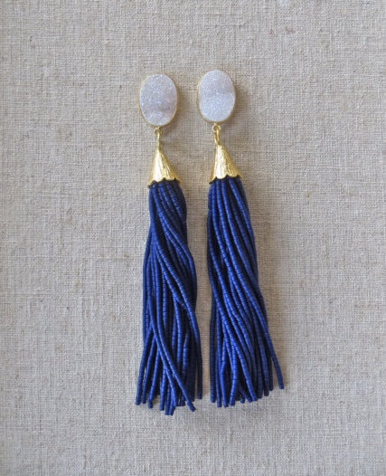 beaded-tassel-earrings-druzy-gemstone-drop-st-raine-etsy-8