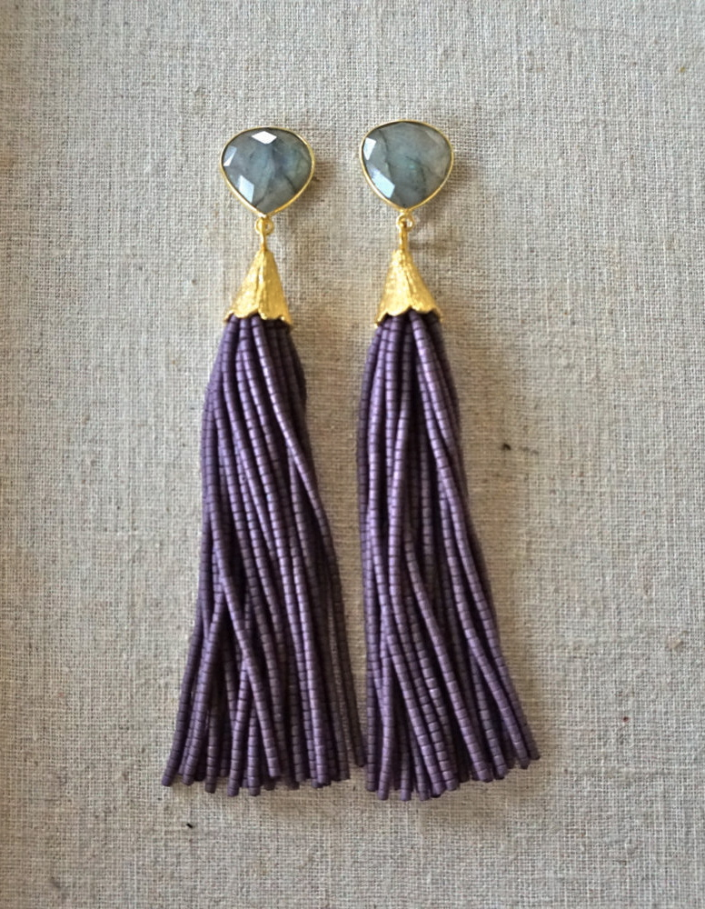 beaded-tassel-earrings-druzy-gemstone-drop-st-raine-etsy-9