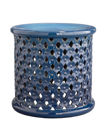 blue-side-table-african-drum-stool