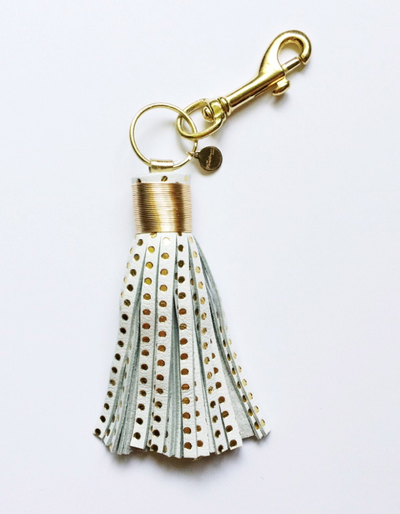 leather-tassel-keychain-fob-gold-dot