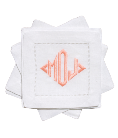 monogrammed-cocktail-napkins