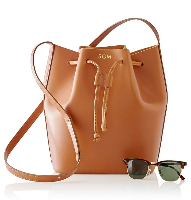 monogrammed-leather-bucket-bag-camel