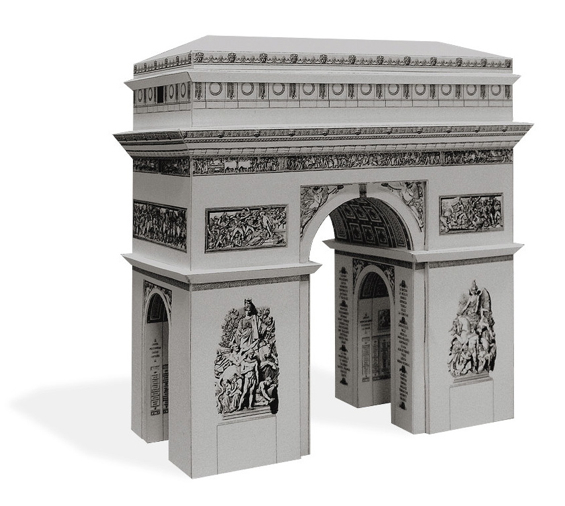 paper-landmarks-arc-de-triumph-paris-france