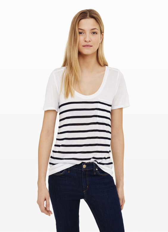 stripe-pocke-tee-shirt
