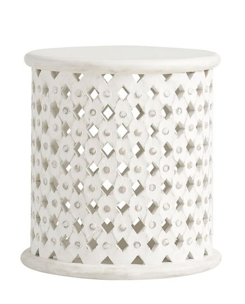 African Drum Coffee Table.White African Drum Side Table Stella Pottery Barn Katie Considers