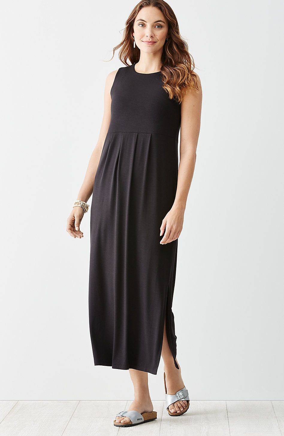 f1e792885caa black-empire-waist-knit-maxi-dress - Katie Considers