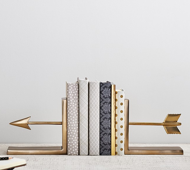 golden-arrow-bookends