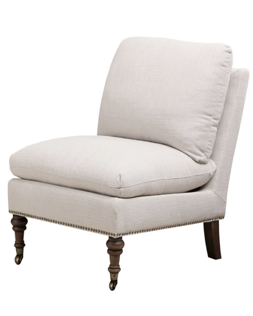 gray-linen-slipper-chair