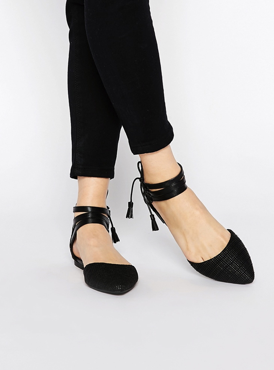 lace-up-pointed-flats-black