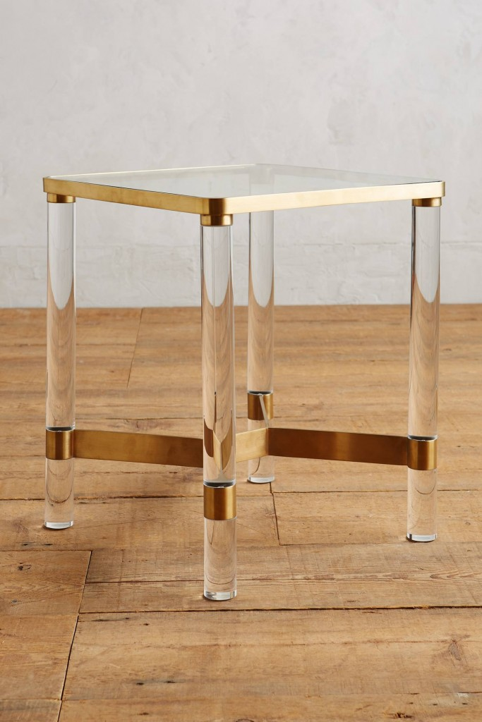 lucite-end-table
