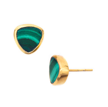 malachite-stud-earrings
