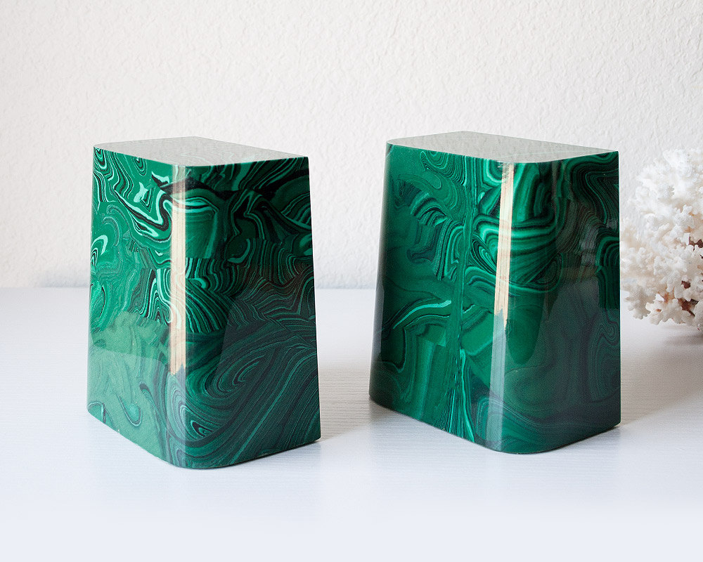 malachite-vintage-bookends
