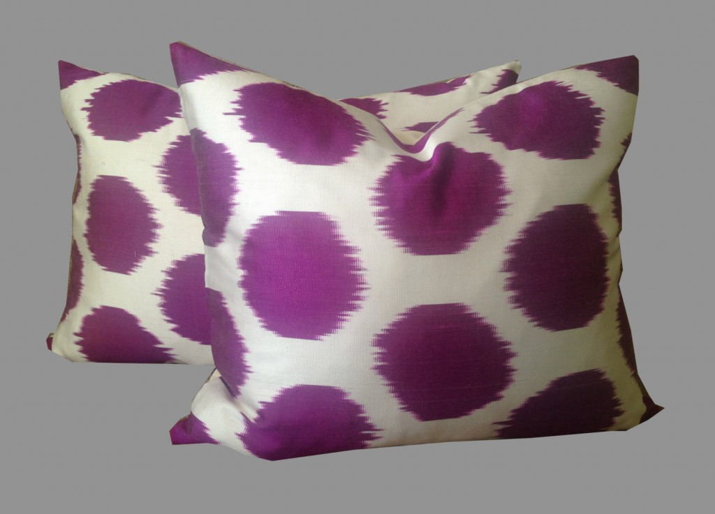 pair-silk-ikat-polka-dot-throw-pillow-covers
