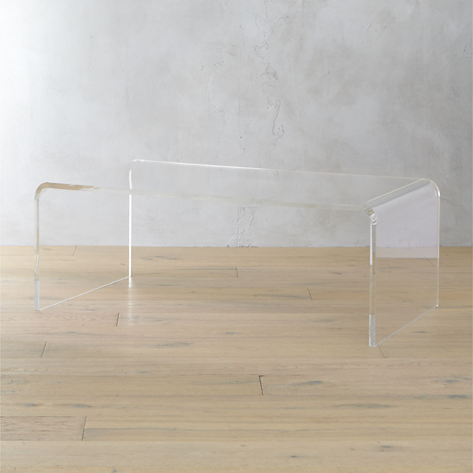 Sensational Peekaboo Acrylic Tall Coffee Table Lucite Cb2 Katie Considers Unemploymentrelief Wooden Chair Designs For Living Room Unemploymentrelieforg