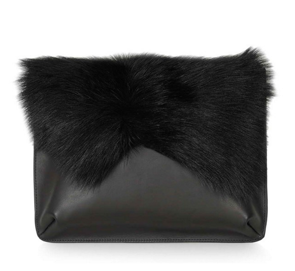shearling-clutch-handbag-black