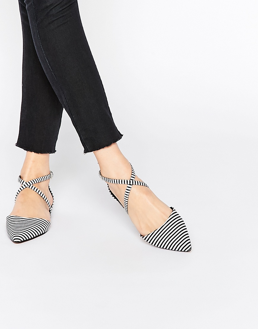 striped-pointy-toe-flats-asos - Katie Considers f42fc11d451