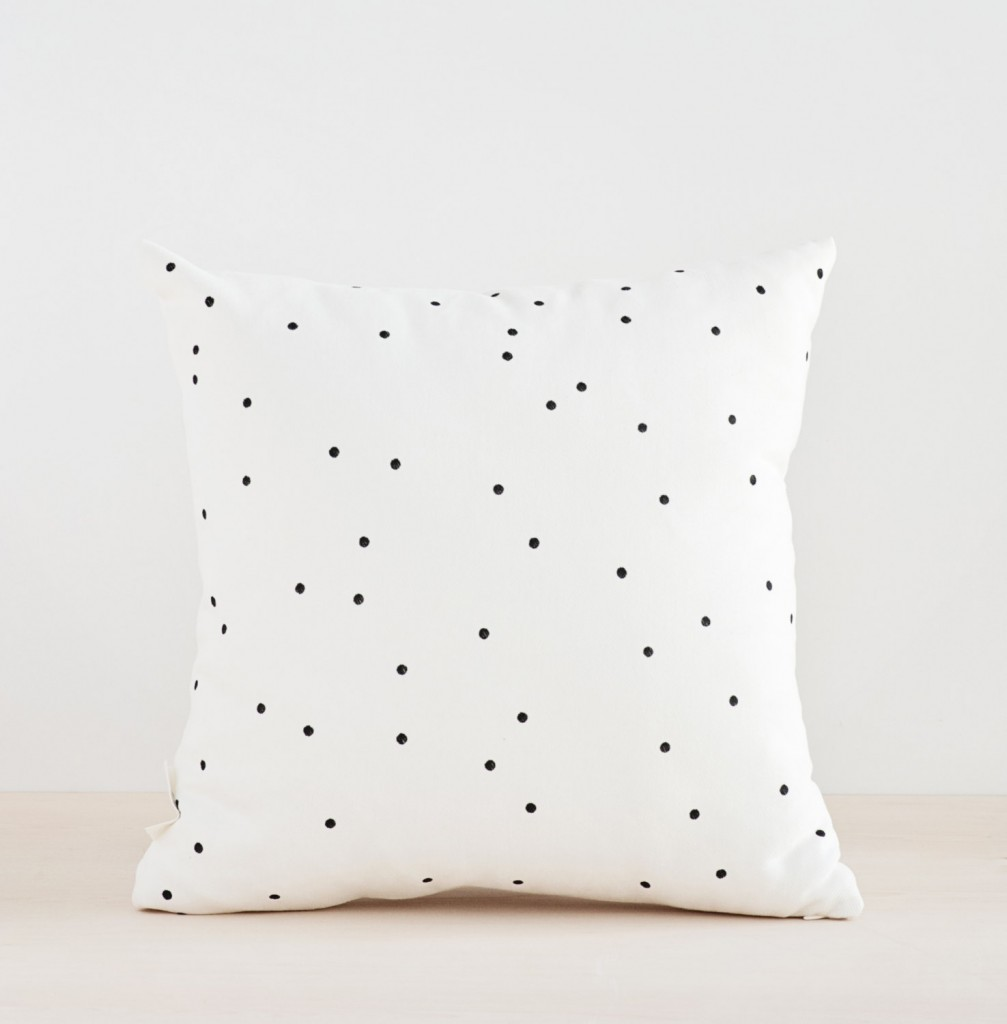 black-dots-confetti-throw-pillow-etsy
