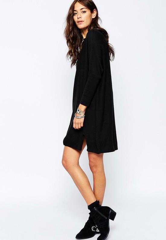 cashmere-mix-tunic-dress-black-asos