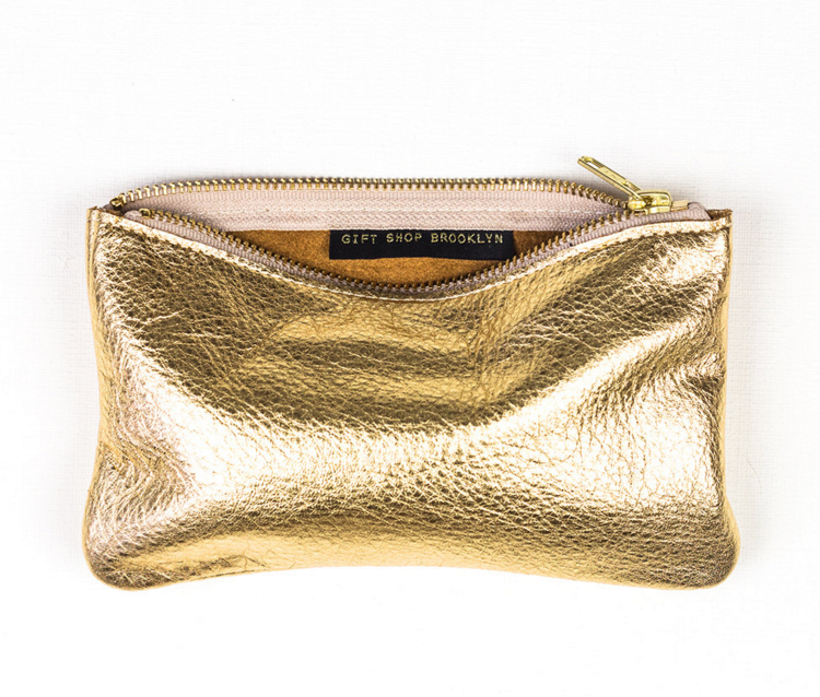 gold-leather-wallet-pouch-etsy-handmade-clutch-metallic